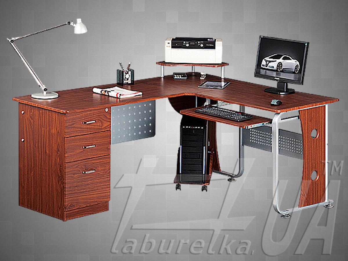 Угловой компьютерной стол, фото примеров и варианты изделий.