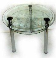 Стіл кухонний круглий скляний