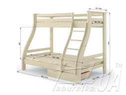 "Семейная двухъярусная кровать ""Аляска"""