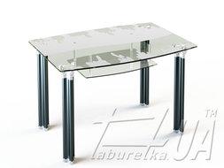 Стіл обідній SF2 910*610 /верх нанесення малюнку/ низ прозорий/ из наличия