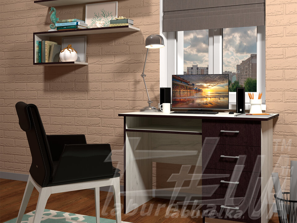 Компьютерный стол СП-1 №10 (4 выдвижных ящика)