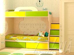 "Двухъярусная кровать ""Dori Lime"""