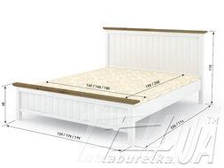 """Ліжко """"Верджинія"""" 1800*2000 /біла фарба/ из наличия"""