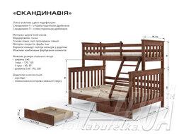 """Сімейне двоярусне ліжко """"Скандинавія"""""""