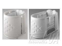 "Овальная кроватка ""Lux Crib"" со стразами Swarowski"