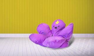 "Кресло-мешок ""Цветок Принцесса Пупырка"""
