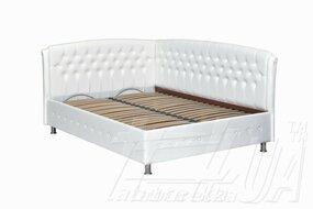 """Кровать """"Монсерат с двумя спинками и металлическим каркасом"""""""